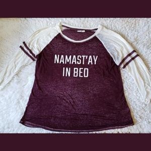 Maurices Namast'ay In Bed Long Sleeved Tee